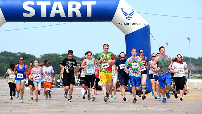 Team Offutt celebrates diversity during Rainbow Run