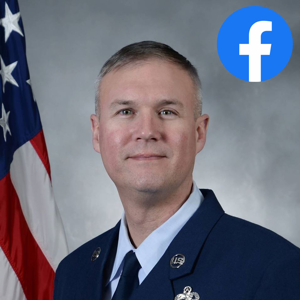 Graphic with link to Chief Master Sgt. Brian Thomas, 55th Wing command chiefs, Facebook page.